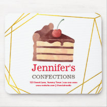 Bakery Chocolate Cake Personalized Mouse Pad