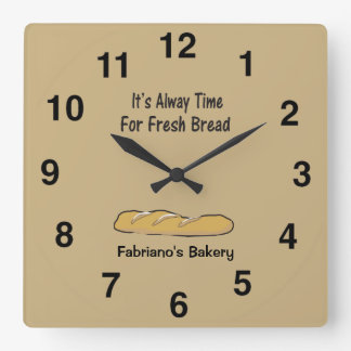 Bakery Clock - It's Always Time For Fresh Bread