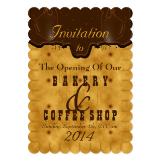Cake shop invitations announcements zazzle bakery amp coffee shop invitation stopboris Images
