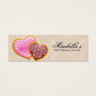 Bakery Cookies Bake Sale Price Gift Tag Birthday Mini Business Card