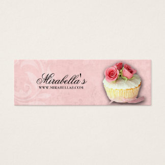Bakery Cupcake Bake Sale Price Gift Tag Birthday Mini Business Card