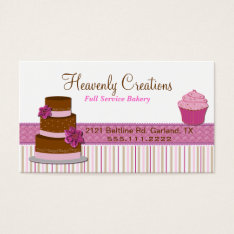 Bakery Cupcake Business Card at Zazzle