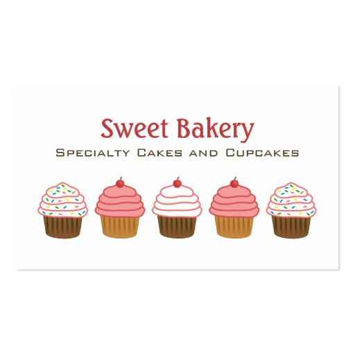 Bakery Cupcake Business Cards Business Card Template