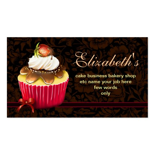 bakery cupcake business cards (front side)
