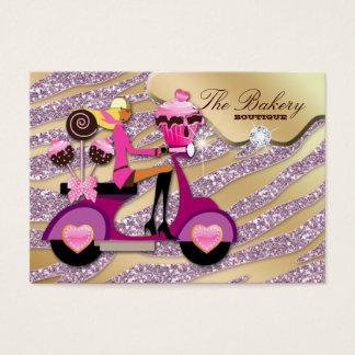 Bakery Cupcake Cake Pops Glitter Chocolate Business Card