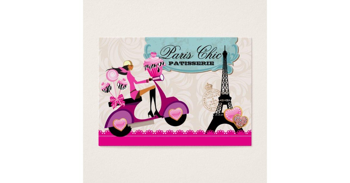 Bakery Cupcake Cake Pops Paris Eiffel Tower xox b Business Card ...