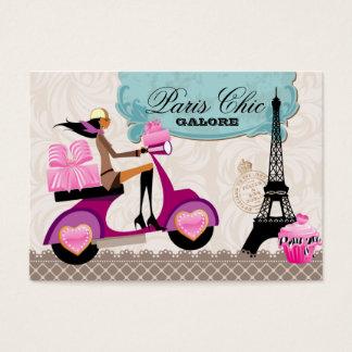 Bakery Cupcake Cookies Scooter Paris Eiffel Tower Business Card