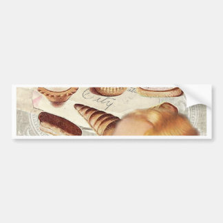 bakery cupcake pastry retro lady paris bumper sticker