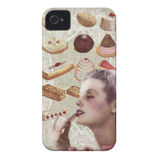 bakery cupcake pastry retro lady paris iPhone 4 case