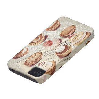 bakery cupcake pastry retro lady paris iPhone 4 Case-Mate case