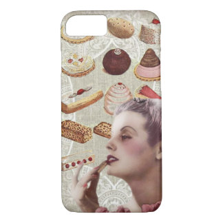 bakery cupcake pastry retro lady paris iPhone 7 case