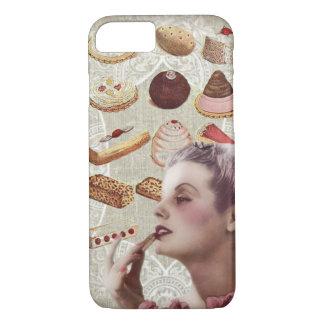 bakery cupcake pastry retro lady paris iPhone 8/7 case