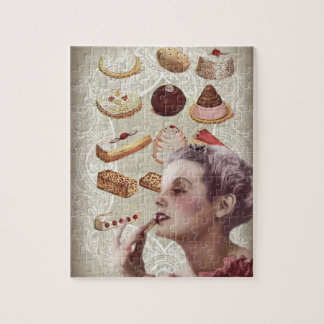 bakery cupcake pastry retro lady paris jigsaw puzzle