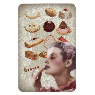bakery cupcake pastry retro lady paris magnet