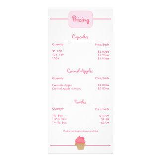 Bakery Cupcake Rackcard Custom Rack Cards