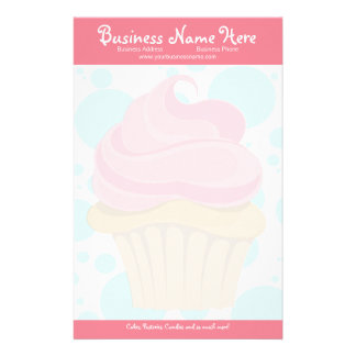 Bakery Cupcake Stationary Stationery Paper