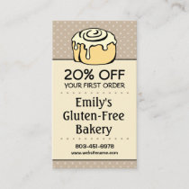 ★ Bakery Discount Coupon Loyalty Referral Vertical Business Card