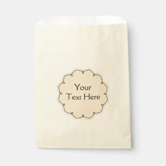 Bakery Frame Design Favor Bag