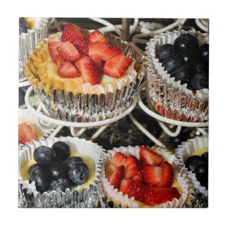 Bakery Fruit Tarts Ceramic Tile