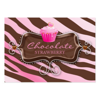 Bakery Gift Certificate Chocolate Cupcake Large Business Card