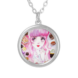 Bakery Girl Silver Plated Necklace