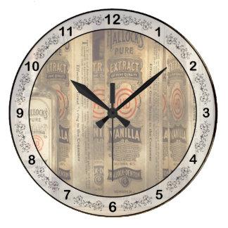 Bakery - Hallocks pure vanilla extract Large Clock
