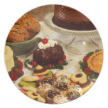 Bakery Items Dinner Plate