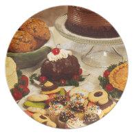 Bakery Items Dinner Plate