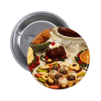 Bakery Items Pinback Button
