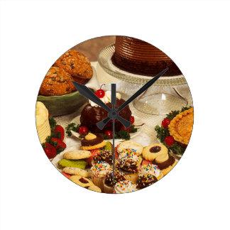 Bakery Items Round Clock