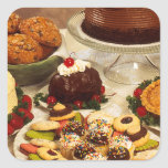 Bakery Items Square Sticker