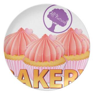 Bakery label dinner plate