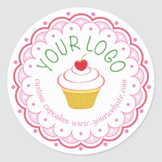 Bakery Large Round Sticker Labels Custom Printed