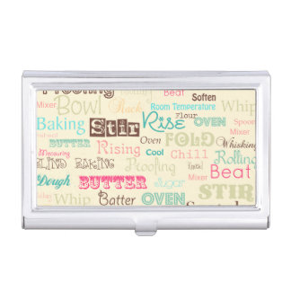 Bakery Lingo {business card holder} Case For Business Cards