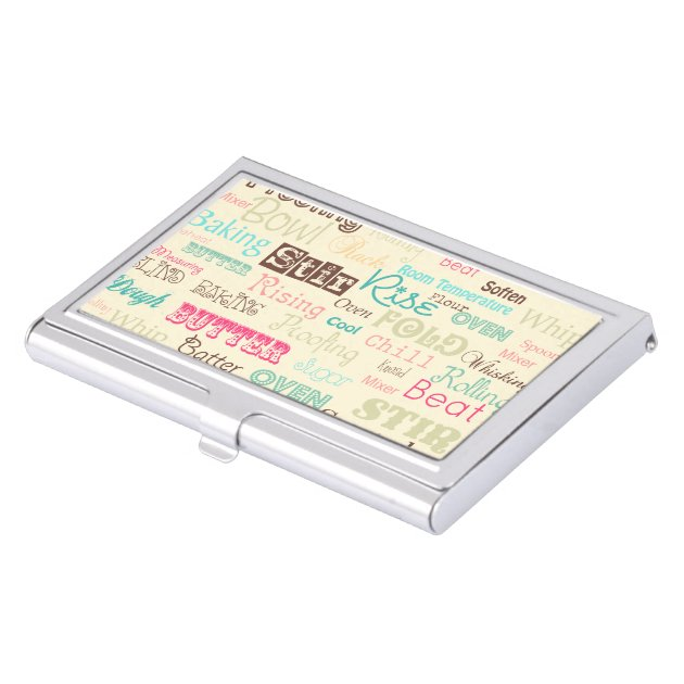 Bakery Lingo business card holder Case For Business