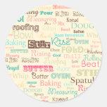 Bakery Lingo {Round Stickers}