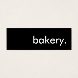 bakery. mini business card
