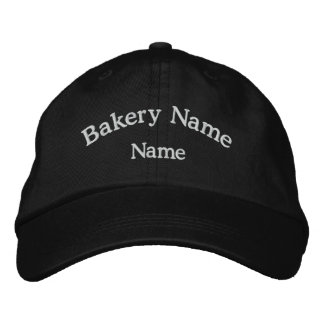 Bakery Name Embroidered Black Hat Embroidered Hats