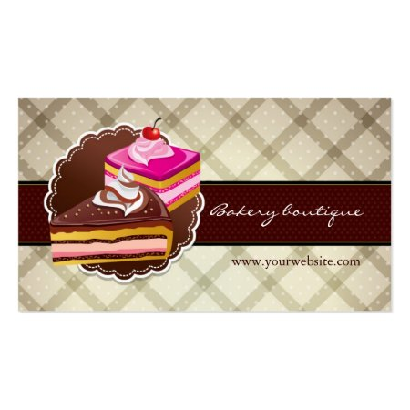 Two scrumptious Layer Cakes Bakery Boutique Business Cards for Pastry Chefs