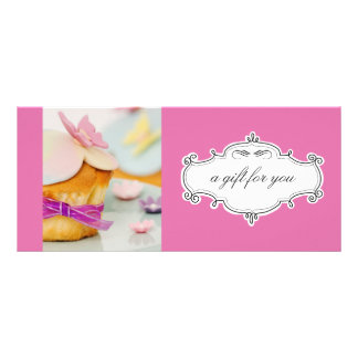 Bakery or Cupcake Business Gift Certificates Customized Rack Card