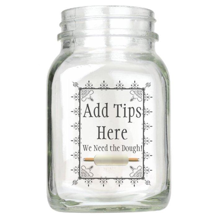 Bakery Or Restaurant Logo Jar For Tips Zazzle Com