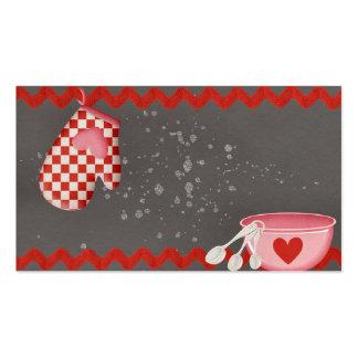 Bakery oven mitt baking bowl business card