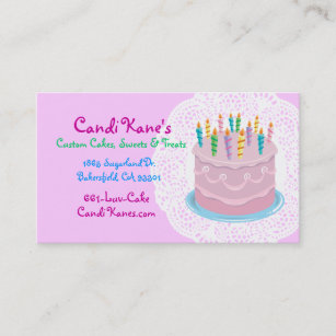 Cake lover business cards templates zazzle bakery owner cake maker sweet shop dessert lovers business card reheart Images
