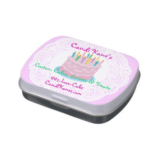 Bakery owner cake-maker sweet shop dessert lovers jelly belly candy tins