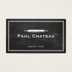 Bakery Pastry Chef Rolling Pin Baker Logo Business Card at Zazzle