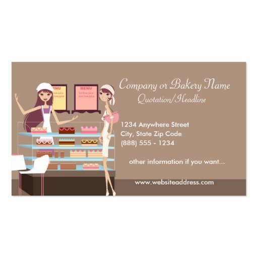 Bakery/Pastry Shop 3 Business Card (front side)