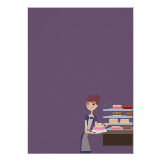 Bakery/Pastry Shop 4 Blank Poster
