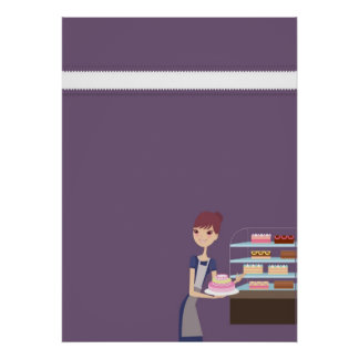 Bakery/Pastry Shop 4 Blank Poster/Print D2 Poster