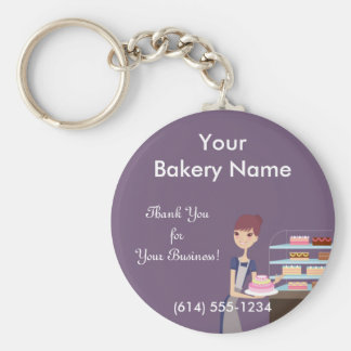 Bakery/Pastry Shop 4 Design Keychain