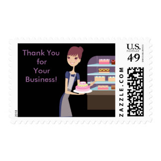 Bakery/Pastry Shop 4 Design Postage Stamp